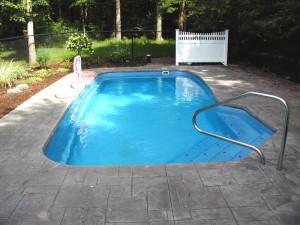 Medium Pool Sizes Viking Inground Fiberglass Swimming Pool