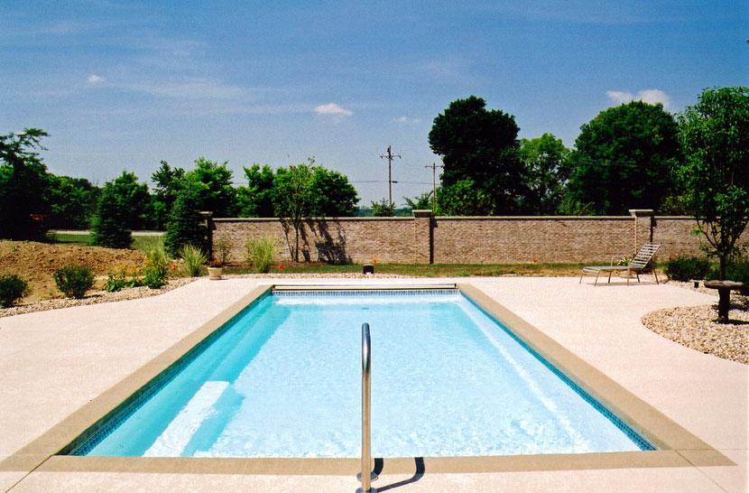Claremont medium fiberglass inground viking swimming pool for Pool design names