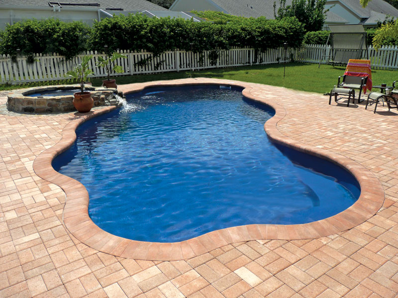 Coronado Large Fiberglass Inground Viking Swimming Pool