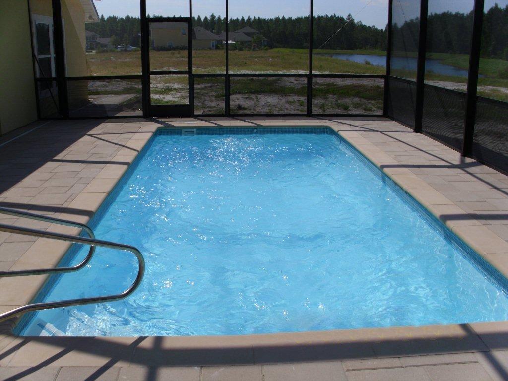 Delray small fiberglass inground viking swimming pool for Fiberglass inground swimming pools