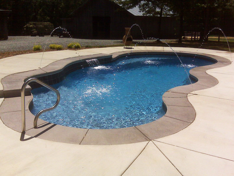 Fiji Large Fiberglass Inground Viking Swimming Pool