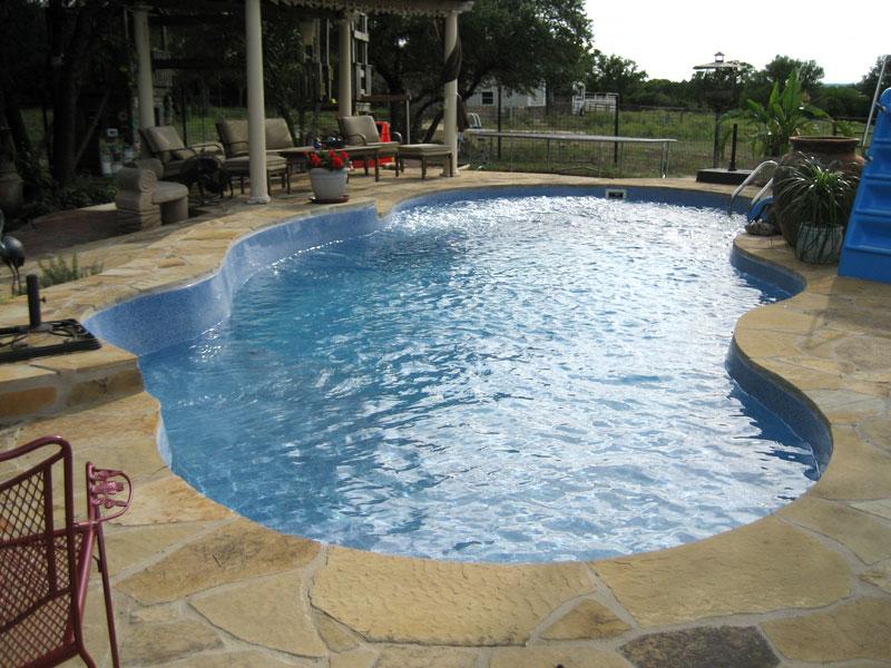 Fiji Large Fiberglass Inground Viking Swimming Pool