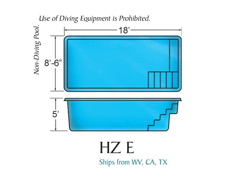 Hydro zone e fiberglass inground viking swimming pool for Pool design names