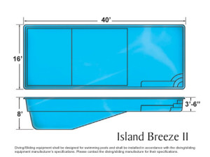 Island breeze ii for Pool design names