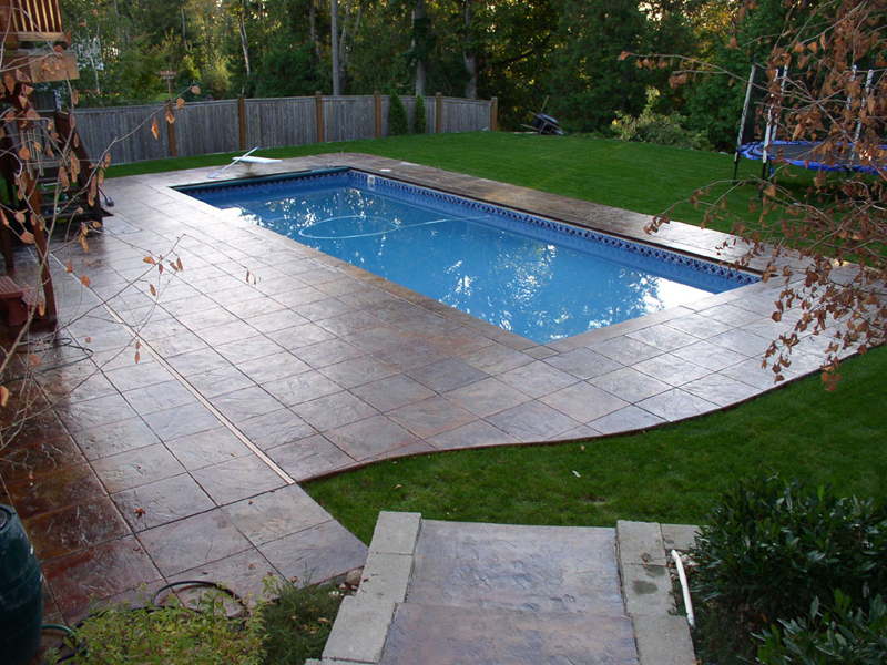 Island breeze ii for Fiberglass inground swimming pools