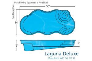 Laguna Deluxe X Freeform Fiberglass Pool Design