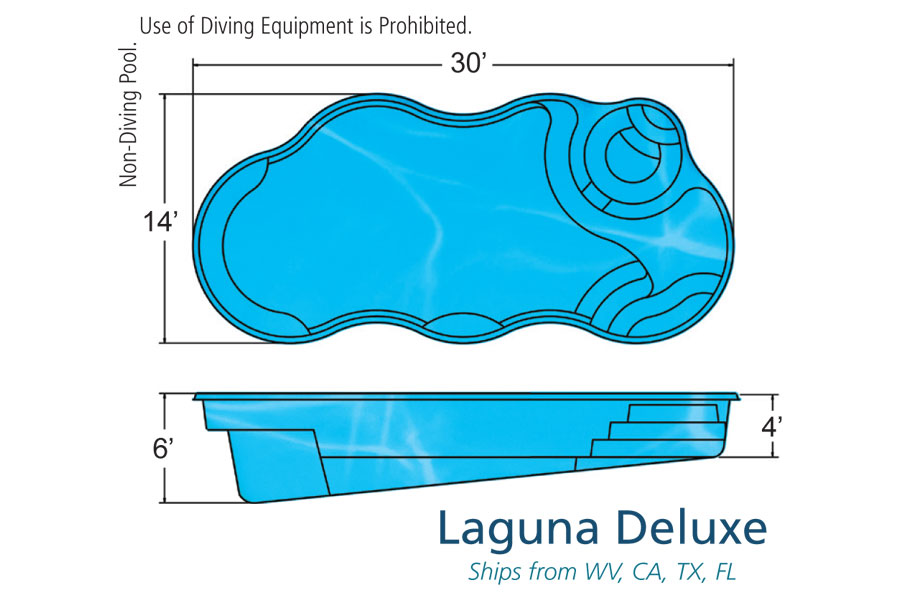 Laguna Deluxe Medium Fiberglass Viking Swimming Pool
