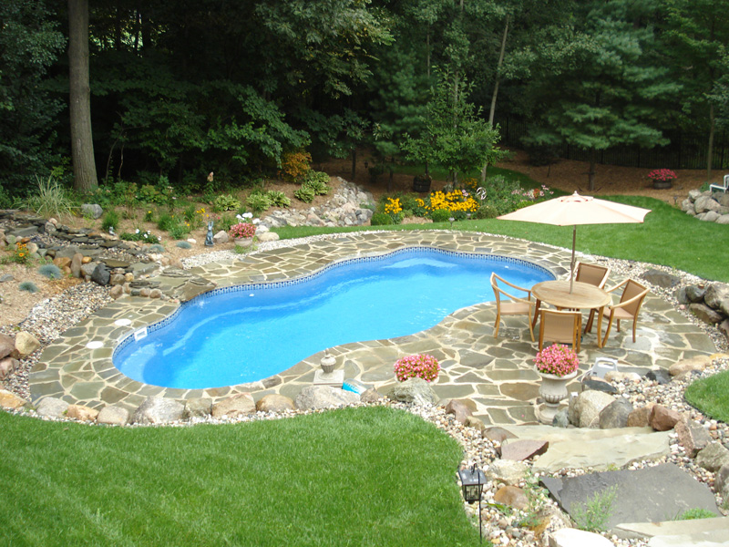 Laguna Medium Fiberglass Inground Viking Swimming Pool