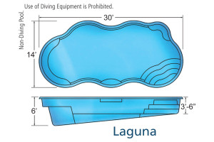 Laguna X Freeform Fiberglass Pool Design