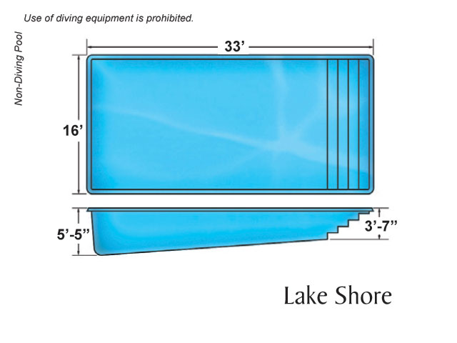 Lake shore large fiberglass inground viking swimming pool for Pool design names