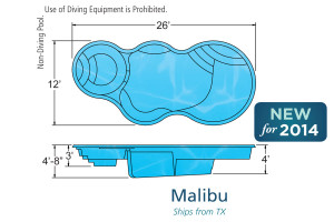 Malibu Freeform Fiberglass Pool Design