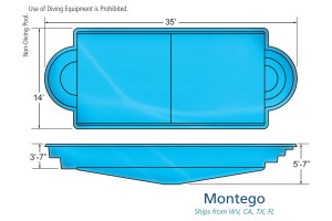 Montego Classic Inground Fiberglass Pool Design