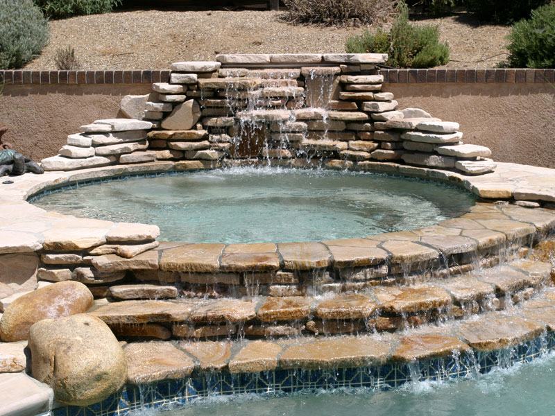 Mystic Spillover Spa Amp Hot Tub Viking Fiberglass Pools