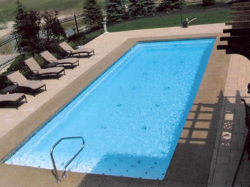 Ocean Breeze Large Fiberglass Viking Swimming Pool