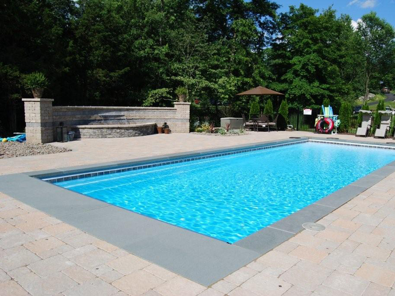 Ocean Breeze Large Fiberglass Viking Swimming Pool