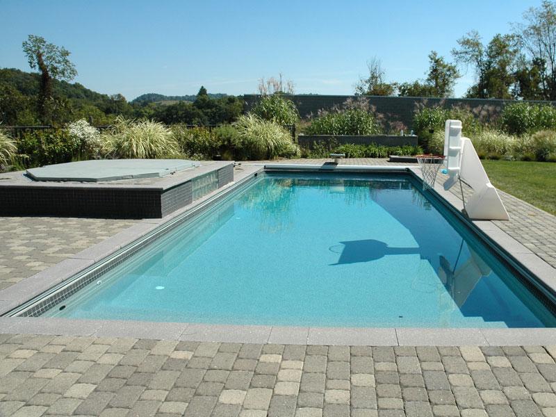 Ocean breeze large fiberglass viking swimming pool for Pool design hawaii