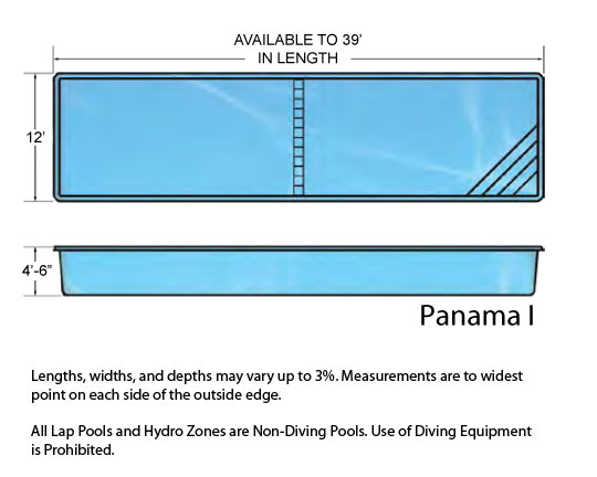 panama i small fiberglass inground viking swimming pool