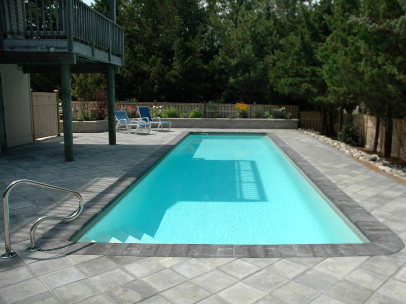 Panama i small fiberglass inground viking swimming pool for Fiberglass inground swimming pools
