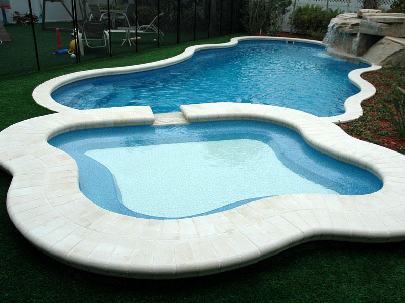 Regal spillover spa hot tub viking fiberglass pools for Pool design regrets