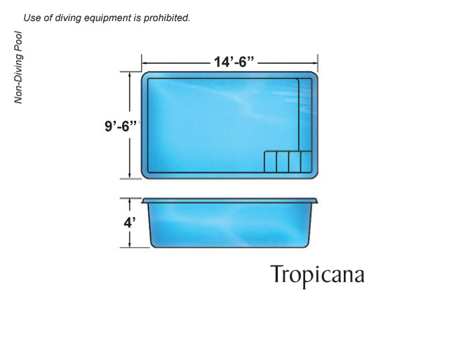 Tropicana small fiberglass inground viking swimming pool for Pool design names