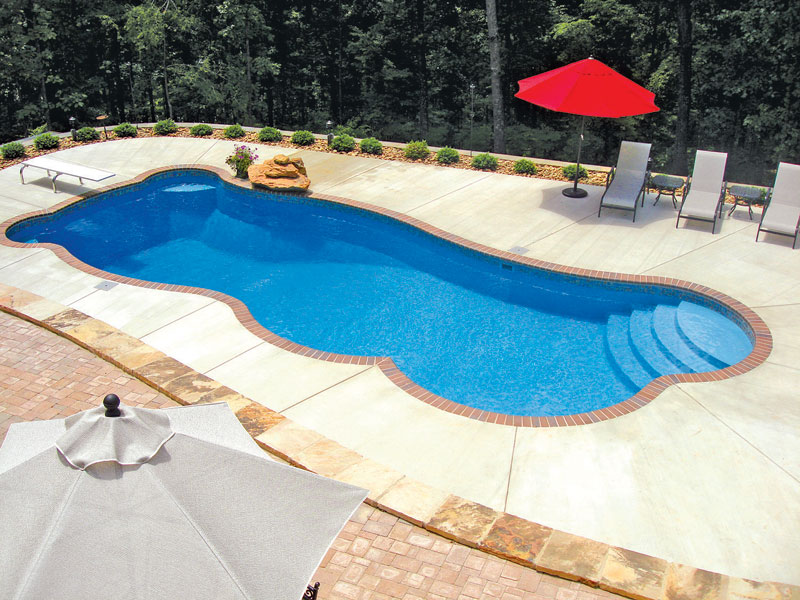 Venice large fiberglass inground viking swimming pool for Pool designs venice