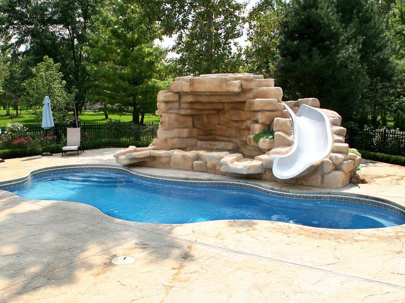 Cancun large inground fiberglass viking pool 14 calm for Large inground pools