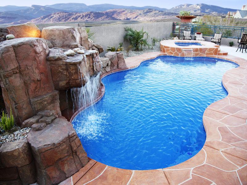 Cancun large fiberglass inground viking swimming pool for Rocky mountain house swimming pool schedule