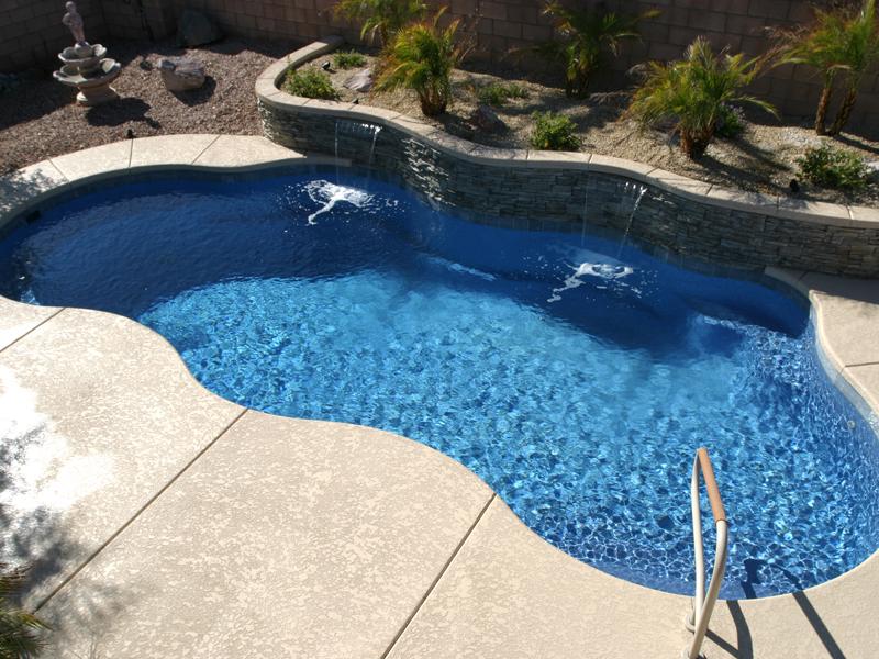 Cancun Large Fiberglass Inground Viking Swimming Pool