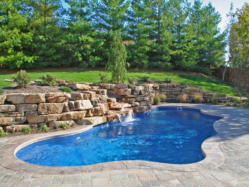 Cancun large inground fiberglass viking pool 56 calm for Large inground pools