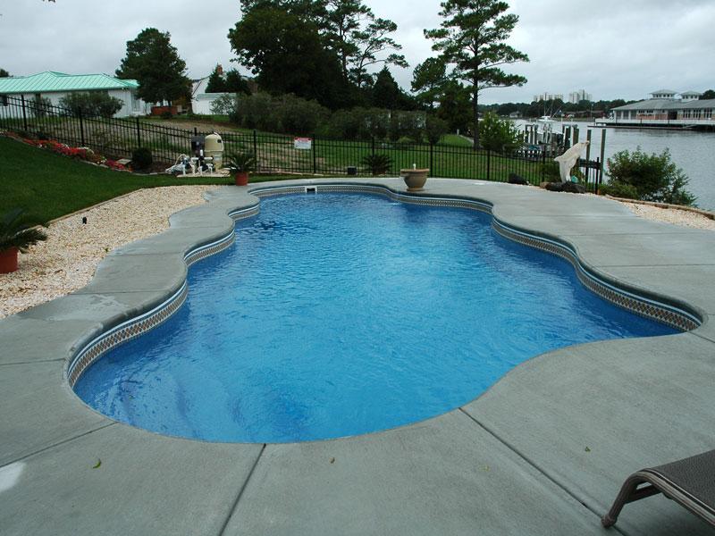 Caribbean large fiberglass inground viking swimming pool for Fiberglass inground swimming pools
