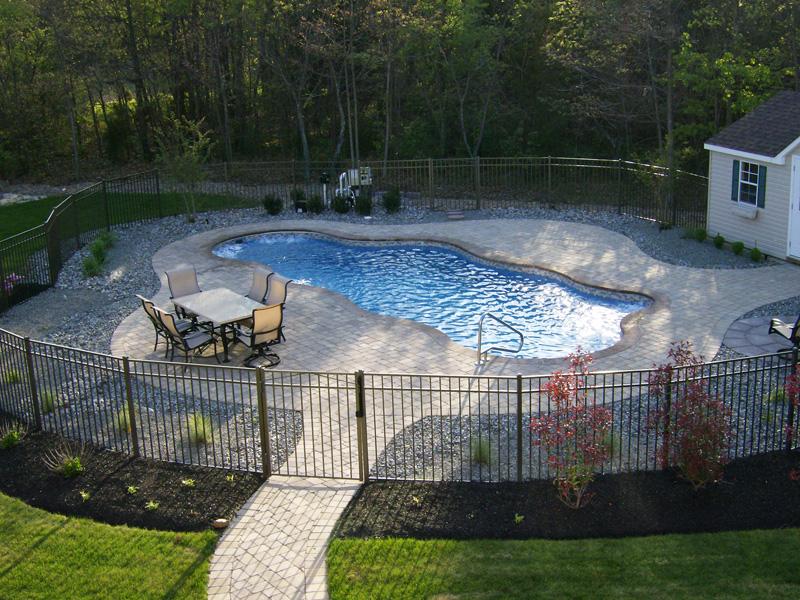 Caribbean Large Fiberglass Inground Viking Swimming Pool