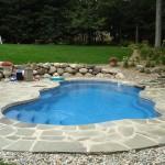 Custom Tile Work Viking Fiberglass Inground Swimming Pools 102