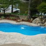 Custom Tile Work Viking Fiberglass Inground Swimming Pools 105