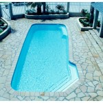 Custom Tile Work Viking Fiberglass Inground Swimming Pools 111
