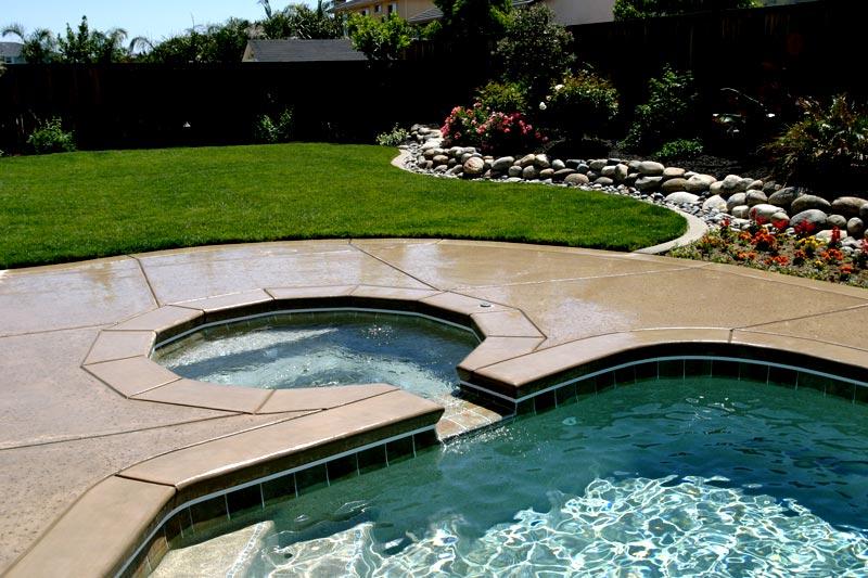 Custom Tile Work Viking Fiberglass Inground Swimming Pools