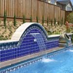 Custom Tile Work Viking Fiberglass Inground Swimming Pools 119