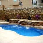 Custom Tile Work Viking Fiberglass Inground Swimming Pools 16