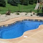 Custom Tile Work Viking Fiberglass Inground Swimming Pools 18
