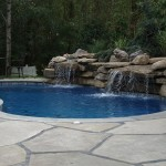 Custom Tile Work Viking Fiberglass Inground Swimming Pools 19