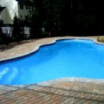 Custom Tile Work Viking Fiberglass Inground Swimming Pools 23