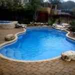 Custom Tile Work Viking Fiberglass Inground Swimming Pools 24
