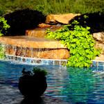 Custom Tile Work Viking Fiberglass Inground Swimming Pools 26