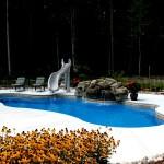 Custom Tile Work Viking Fiberglass Inground Swimming Pools 27