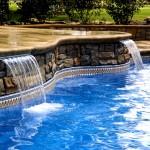 Custom Tile Work Viking Fiberglass Inground Swimming Pools 28