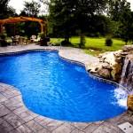 Custom Tile Work Viking Fiberglass Inground Swimming Pools 29