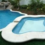 Custom Tile Work Viking Fiberglass Inground Swimming Pools 30