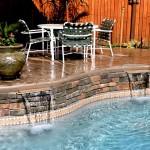 Custom Tile Work Viking Fiberglass Inground Swimming Pools 31