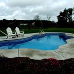 Custom Tile Work Viking Fiberglass Inground Swimming Pools 33