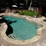 Custom Tile Work Viking Fiberglass Inground Swimming Pools 36