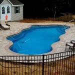 Custom Tile Work Viking Fiberglass Inground Swimming Pools 48